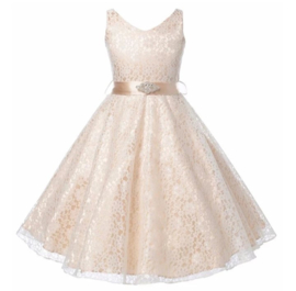 Elegante jurk champagne