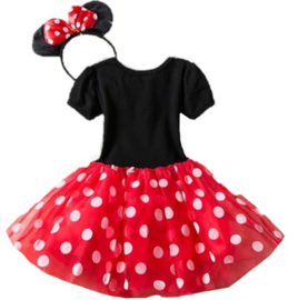 Minnie Mouse jurk rood (2-delig)
