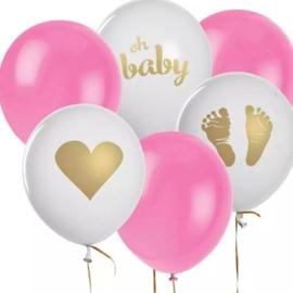 Ballonnen, geboorte meisje