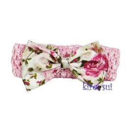Haarband roze strik romantisch
