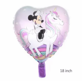 Minnie mouse hart folie ballon
