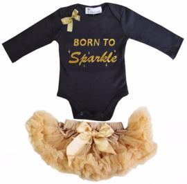 Born To Sparkle longsleeve zwart