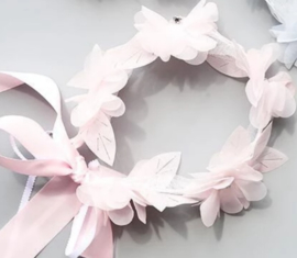 Diadeem babyroze bloemen met strass