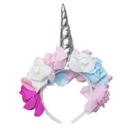 Unicorn diadeem bloemen