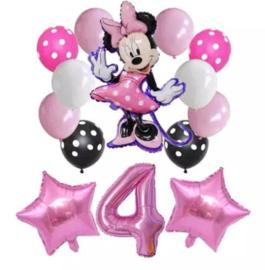 Minnie Mouse ballonnen 4 jaar (14-delig)