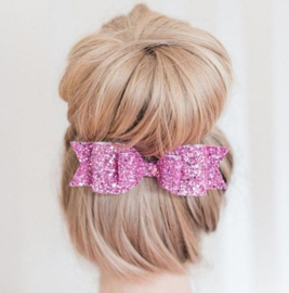 Haarband strik glitter paars