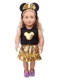 Minnie mouse setje goud (3-delig)