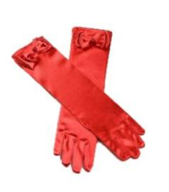 Gala handschoenen lang klaproos rood