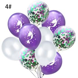 Zeemeermin Ballonnen nr. 4  - 10 stuks
