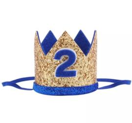 Kroon blauw/goud 2 jaar