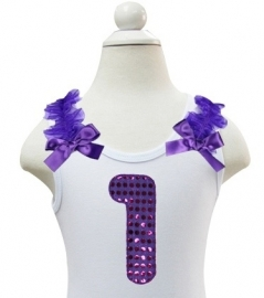 Top 1 jaar glitter paars