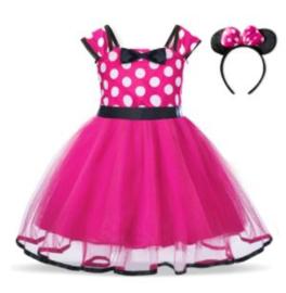 Minnie Mouse jurk pink +  diadeem