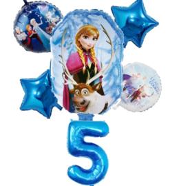 Frozen Ballonset 5 jaar (6-delig)