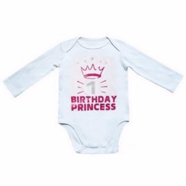 1 Birthday Princess lang/korte mouw