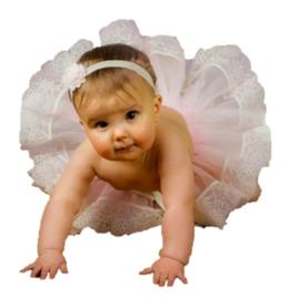 Newborn tutu roze
