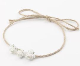 Haarband touw, wit