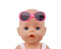 Poppen zonnebril roze