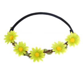 Haarband Madeliefjes groen
