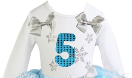 Frozen verjaardag T-shirt 1 t/m 6 jaar