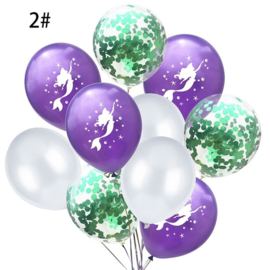 Zeemeermin Ballonnen nr. 2 - 10 stuks