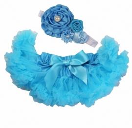 Pettiskirt Aqua blauw + haarband