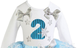 Frozen verjaardag T-shirt 2 jaar (mt. 98/104)