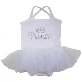 Babyjurk tutu wit Princess glitter