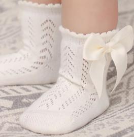 Sokken creme/off white (0-1 jaar)