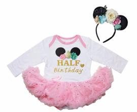 Minnie Mouse verjaardag babyjurk Half Birthday