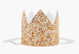 Haarband kroon goud, geen getal *