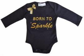 Born To Sparkle  lang/korte mouw zwart