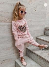 Huispak roze met luipaardprint