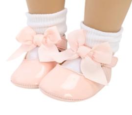 Baby schoen ROZE met strik