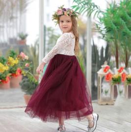 Romantisch jurk Charlotte robijnrood