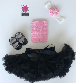 Babyset zwart-roze(4 delig)