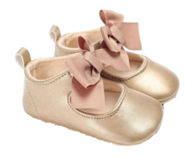 Babyschoen GOLD met strik