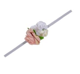 Haarband bloem romantisch theeroos
