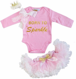 Born To Be Sparkle + haarclip kroon