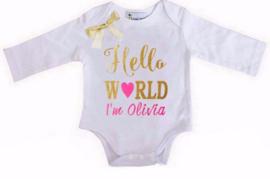 Baby shirt met eigen naam