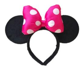 Minnie Mouse pink stippen diadeem 3D luxe