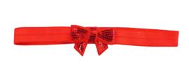 Haarband strik klein, rood