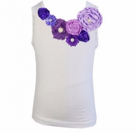 Top Paars/Lavendel/Violet satijnen roosjes