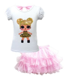 LOL QUEEN BEE tutu-setje roze