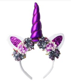 Unicorn diadeem paars