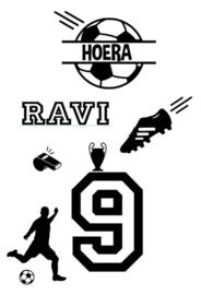 Raamsticker Verjaardag voetbal