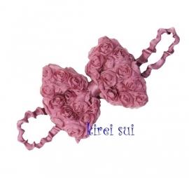 Haarband strik roosjes vintage paars