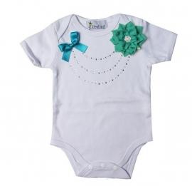 Baby shirt glitter Lucite Green