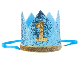 Kroon aqua/goud 1 jaar