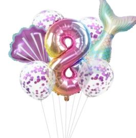 Zeemeermin ballonnenset 8 jaar