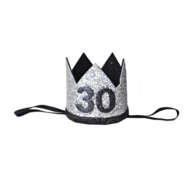 Haarband kroon 30 jaar zilver